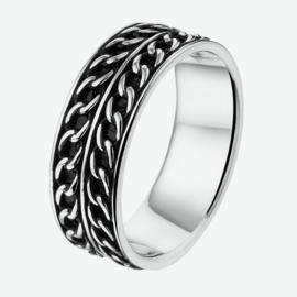 Zilveren ring oxi maat 19