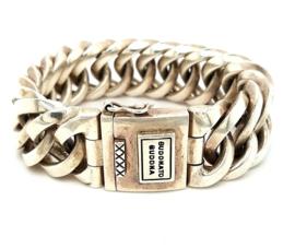 Occasion zilveren Buddha to Buddha armband, model 'Chain Big'