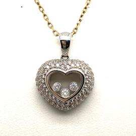 Witgouden open hart hanger met diamant 1.00ct VVSI-F 💎