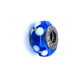 Occasion Pandora glas bedel blauw / wit