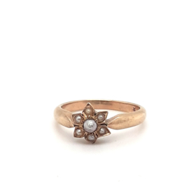 Occasion vintage ring met parel
