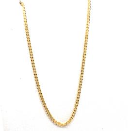 Geelgouden gourmet collier 1.2mm 50cm