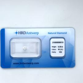 HRD Diamant - 0.30 ct. - briljant - H / VS2
