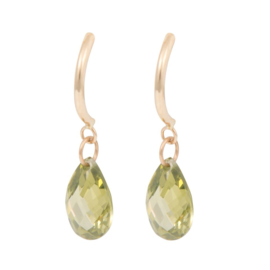 Cataleya Earrings Half Hoop & Pear