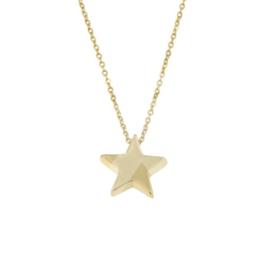 Gouden Symbol Chain Star Small 42-45 cm
