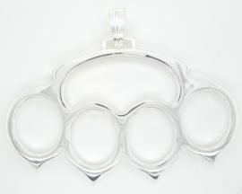 Zilveren hanger boksbeugel groot