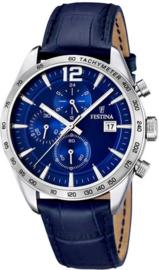 Festina F16760/3 Chronograaf - Horloge - Staal - Zilverkleurig - 43.5 mm