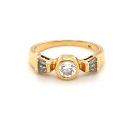 Occasion gouden ring met 7 diamanten ruim 0.50ct, VSI - F