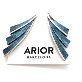 ARIOR Barcelona oorknoppen Fenix blauw
