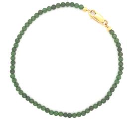 Occasion armband met groene jade