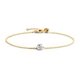 Blush Armband 2167BZI - Geel en Wit Goud met Zirconia