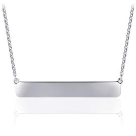 Zilveren ketting Hanging Bar