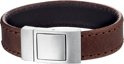 Dash Armband Leer 18 mm 21 cm - Staal