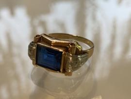 Vintage art-deco ring rose goud