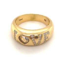Occasion originele Chopard LOVE ring collectie Happy Diamonds