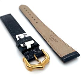 Originele Cartier lederen horloge band zwart 13mm