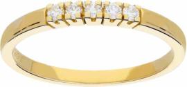Glow ring - geelgoud - diamant - 0.107ct - maat 50