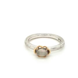Occasion zilveren ring met aquamarijn