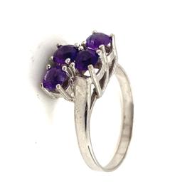 Occasion ring met 4 paarse amethisten