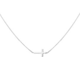 Collier kruis 1,0 mm 40 + 5 cm