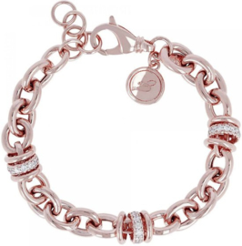 Bronzallure Armband Kristal/Rose goud WSBZ00519