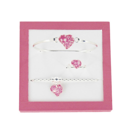 Zilveren Heart set