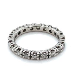 Occasion witgouden alliance ring met diamant 1ct