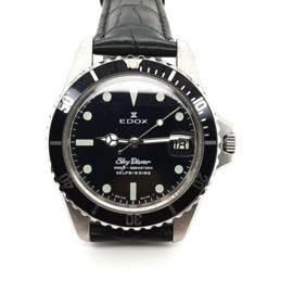 Occasion Edox Sky Diver vintage herenpols horloge
