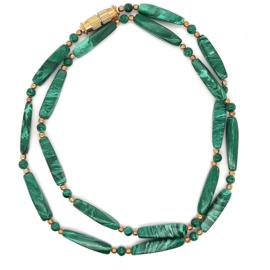 Occasion malachiet collier