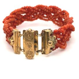 Antieke armband koraal