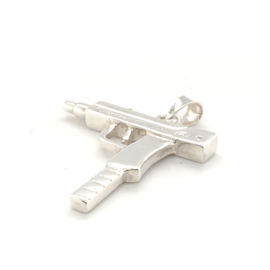 Hanger uzi /machine geweer zilver