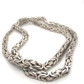 Zilveren collier koningsketting - konings massief