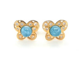 Cataleya Earrings Butterfly Light Blue