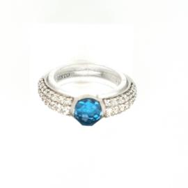 Occasion Ti Sento - Milano ring met blauwe kristal en zirkonia