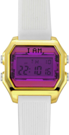 I AM THE WATCH - Horloge - 40mm - Goudkleurig/paars/wit - IAM-KIT05