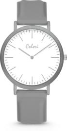 Colori Essentials 5 Horloge - Siliconen Band - Ø 40 mm - Grijs