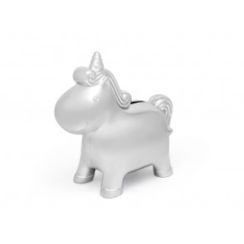 Spaarpot Eenhoorn zilver kleurZoom   Spaarot Unicorn, zilver kleur
