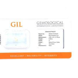 GIL diamant - 0.36 ct. - rond briljant - I2 N-F