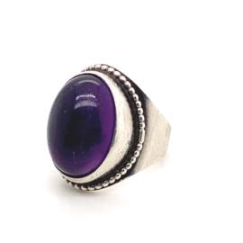 Zilveren ring amethist