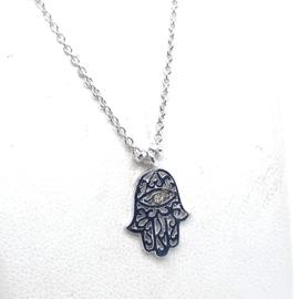 Zilveren collier Fatima handje 1,5 mm 41 + 4 cm