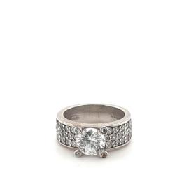 Occasion Ti Sento - Milano zilveren ring met zirkonia