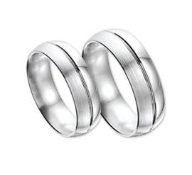 Zilver gediamanteerd set