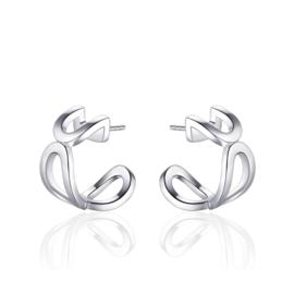 AG925 Zilveren oorstekers creolen