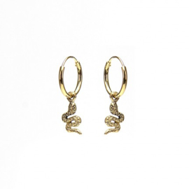 Karma HOOPS SYMBOLS SNAKE - GOLD COLOR