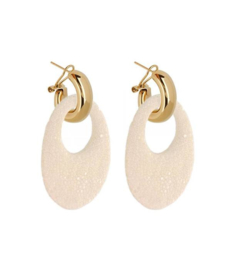 AMJOYA Earrings Marbella Offwhite
