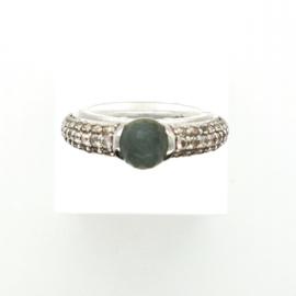 Occasion Ti Sento - Milano ring met groene kristal en zirkonia