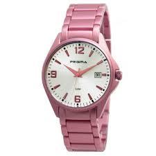 Prisma horloge P.1297 F020004 Fashion Aluminium Roze