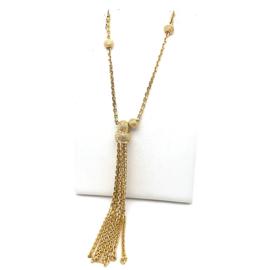 Occasion gouden collier met trosje ankerschakeltjes
