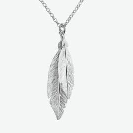 Zilveren collier veren 2,0 mm 41 + 3 cm