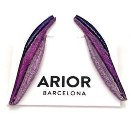 ARIOR Barcelona oorknoppen Bori lila